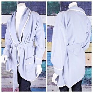 Soft Surroundings Fleece Belted Robe Cardigan Cozy